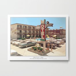 24th Street Motel in North Wildwood, New Jersey in the 1960's Metal Print