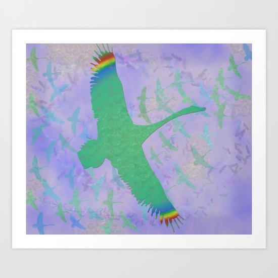 Feathered Dreams Art Print