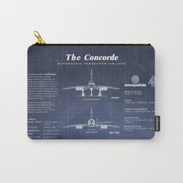 Concorde Supersonic Airliner Blueprint (dark blue) Carry-All Pouch