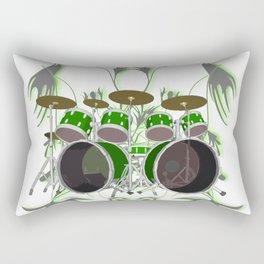 Drum Kit with Tribal Graphics Rectangular Pillow