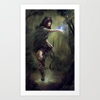 merida Art Prints featuring Merida by aStripedUnicorn