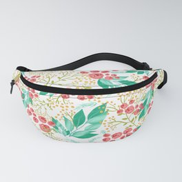 Peachy floral seamless pattern Fanny Pack