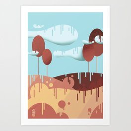 "Landscape - digital art - ""Rain"" Art Print"