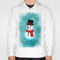 snowman Hoodies featuring snowman by vitamin