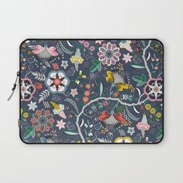 BOHO Chintz (Periwinkle grey) Laptop Sleeve