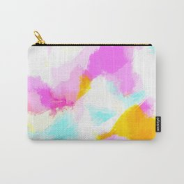 Bailee - Bright neon pink, blue, yellow abstract art Carry-All Pouch