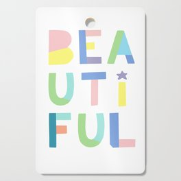 Beautiful poster,  girls pastel poster Cutting Board