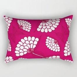 African Floral Motif on Magenta Rectangular Pillow