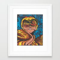 fear and loathing Framed Art Prints featuring Fear and Loathing  by Katrina Berkenbosch