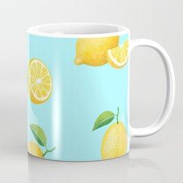 Lemons on Blue Coffee Mug