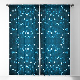 Cyan Blue Sparkly Bokeh Blackout Curtain