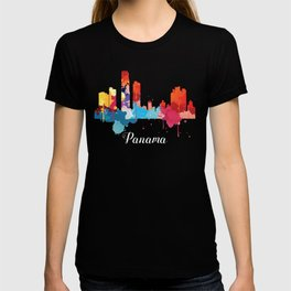 Panama Cityscape Watercolor T-shirt