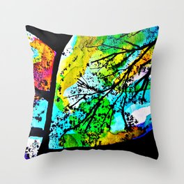 Between the song of the birds and the leaves that dance Throw Pillow