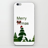 xmas iPhone & iPod Skins featuring Xmas by Anne Seltmann