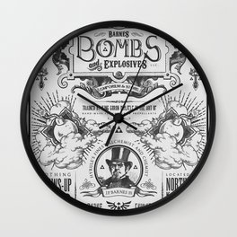 Legend of Zelda Bomb Advertisement Poster Wall Clock