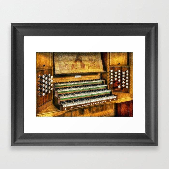 Church Organ Art Gerahmter Kunstdruck