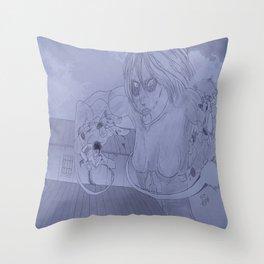 Showdown (Greyscale) Throw Pillow