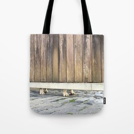 Paws Of A Waiting Bulldog Tote Bag
