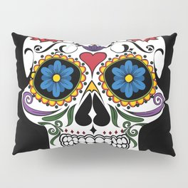 Colorful Sugar Skull Pillow Sham