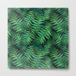 Among the Fern in the Forest Metal Print