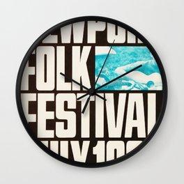Vintage 1966 Newport Folk Festival Advertisement Poster Wall Clock