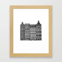 Dutch Canal House Framed Art Print