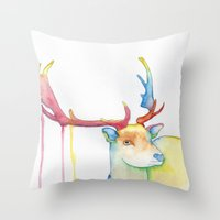 elk Throw Pillows featuring Elk by Eric Weiand