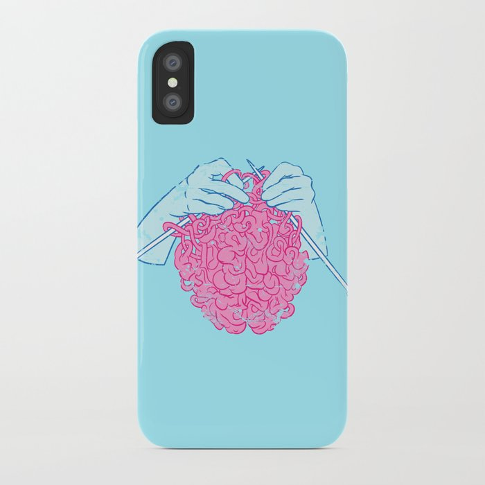 knitting a brain iphone case