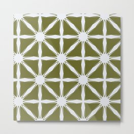 Modern Moroccan criss cross Metal Print