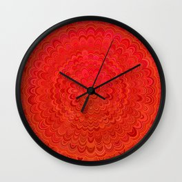 Fire Flower Mandala Wall Clock
