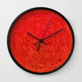 Fire Flower Mandala Wall Clock