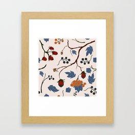 Forest Berries Framed Art Print