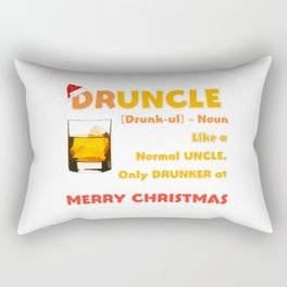Druncle Christmas Rectangular Pillow