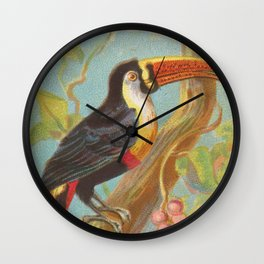 Vintage Illustration of a Toucan (1889) Wall Clock