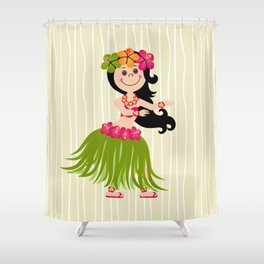 Hawaiian Girl Shower Curtain