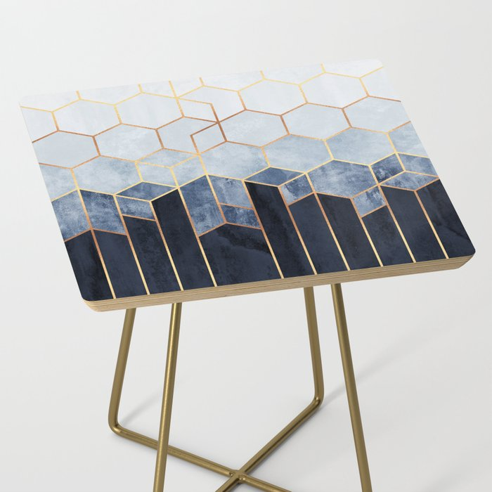 Soft Blue Hexagons Side Table