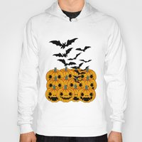 halloween Hoodies featuring halloween by mark ashkenazi
