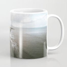 Moody black sand beach in Iceland - Landscape Photography Coffee Mug