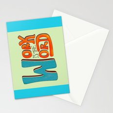 Work is the Word Stationery Cards