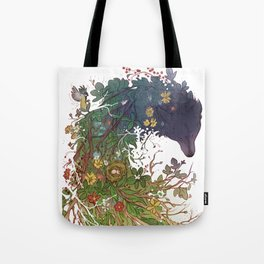 Woodland wolf Tote Bag