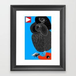 Ruthless Pigeon  Framed Art Print