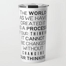 Einstein's quote Travel Mug