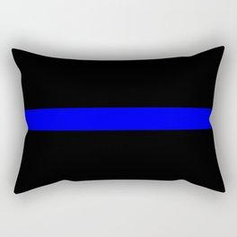 Thin Blue Line Police Flag Rectangular Pillow