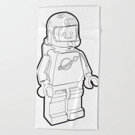 Vintage Spaceman Wireframe Minifig Beach Towel