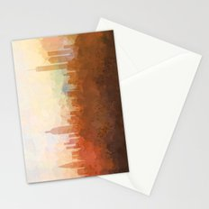 New York Skyline - In the Clouds Stationery Cards