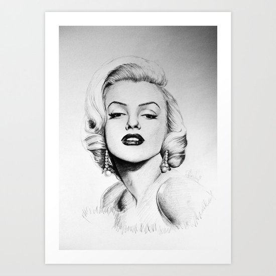 Marilyn Monroe portrait Art Print