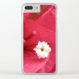 TEXTURES - Bougainvillea Clear iPhone Case