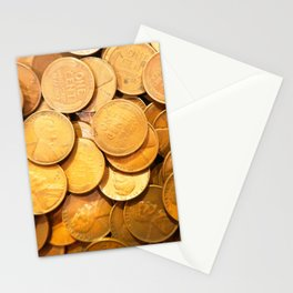 Watercolor Coins, Lincoln Wheat Pennies, 1948 01 Stationery Cards