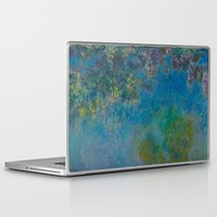 monet Laptop & iPad Skins featuring Claude Monet Wisteria by Elegant Chaos Gallery