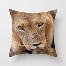 The lion - Africa wildlife Throw Pillow